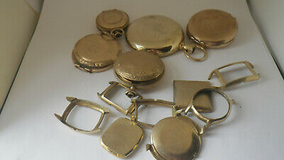 Assorted Gold-filled Watch Cases for Gold Scrap. 172 grams. No Reserve.