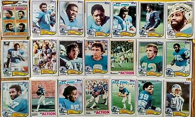 Topps 1982 Detroit Lions complete team set - Billy Sims