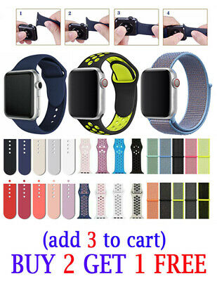 Silicone Colorful strap Sports Band For Apple Watch Series 4 3 2 1 38/40/42/44mm
