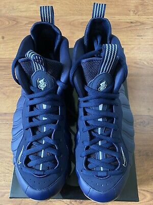 low priced 2fd46 24e0b NIKE AIR FOAMPOSITE One Mens 314996-405 Midnight Navy Gum Shoes Size 9 DS  New!!!
