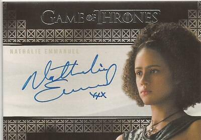 Nathalie Emmanuel as Missandei Autograph Card - Game of Thrones Inflexions