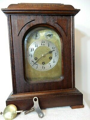 Antique Large German Junghans Bracket Mantle Clock With Westminster Chimes