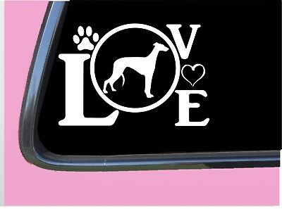 "Greyhound Love TP 665 Sticker 8"" Decal dog racing muzzle adoption rescue"