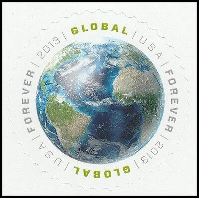 US 4740 Earth global forever single (1 stamp) MNH 2013