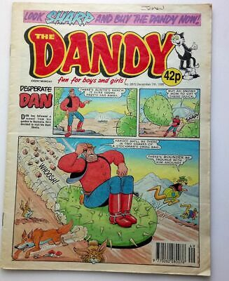 The Dandy 7th December 1996 Collectable Childrens Humour Comic Number # 2872 *
