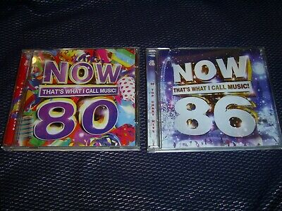 NOW THAT'S WHAT I CALL MUSIC!  80 and 86 / 2 x DOUBLE CDs