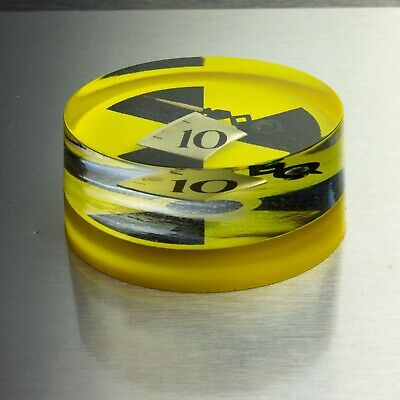 Resin Embedded Clock Hand & Number - Geiger Counter Check Source - Display Piece
