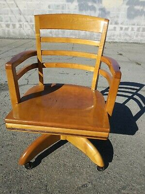 Sensational Antique B L Marble Chair Co Bedford Ohio Usa Banker Rolling Evergreenethics Interior Chair Design Evergreenethicsorg