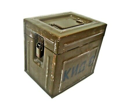 Vintage iron military box KID 6 Cannon ammunition crate Army of the Warsaw Pact