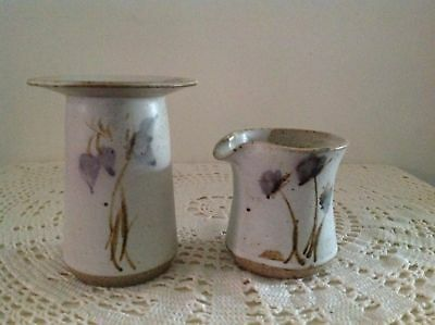 2 x SIGNED POTTERY PIECES (UNKNOWN MAKER).