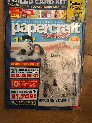 Papercraft essentials Magazine Issue 174 Wallace & Gromit Stamps & Foli Card Kit