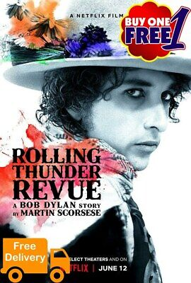 Rolling thunder by martin scorsese  A3/A4  movie poster 2019 v4  buy1get1free