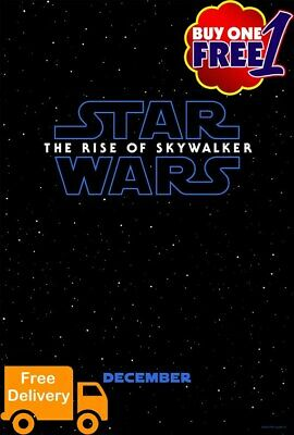 Star Wars The rise of skywalker  A3/A4 movie poster 2019  buy1get1free