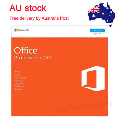 Microsoft Office Professional 2016 Product Key With DVD for 1 PC Sealed Packing