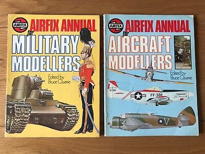 Airfix Annuals for Aircraft + Military Modellers - Bruce Quarrie 1978 Paperbacks