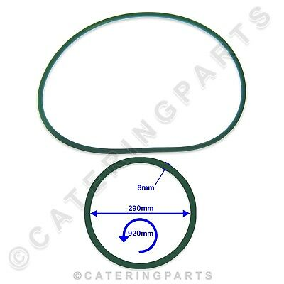 PIZZA GROUP 5070180 GREEN DOUGH ROLLER STRETCHER DRIVE BELT 290mm x 920mm x 8mm