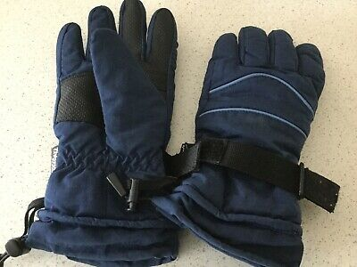 Manbi Thinsulate Waterproof Blue Gloves In Excellent Condition - Lined