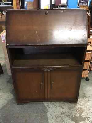 Lovely Vintage Writing Bureau/Desk/Cupboard/Storage - Shabby Chic Project