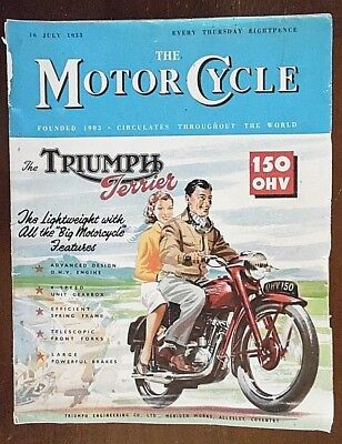 The Motor Cycle Magazine 16th July 1953 Issue. Pub by Iliffe & Sons Ltd. No 2623