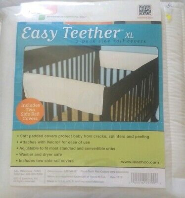 Leachco Easy Teether Soft and Padded Crib Rail Cover Brown Fits Standard Cribs