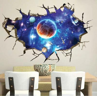 Wall Stickers Space Planet Wall Decal Decoration Nursery Earth