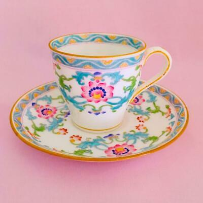 Antique MINTONS c. 1900-1905 Hand Painted DEMITASSE CUP AND SAUCER