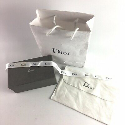 AUTHENTIC Dior Packaging - Empty Box, Purse Dust Bag, Ribbon, Paper Bag