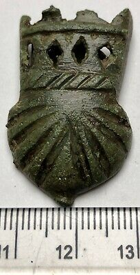 1400's Medieval Bronze Dagger Chape - to stop the point of the dagger (B454)