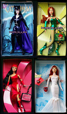 """Catwoman Barbie Doll Poison Ivy Mary Jane Electra Super Hero NO BOXES Lot 4 """""""