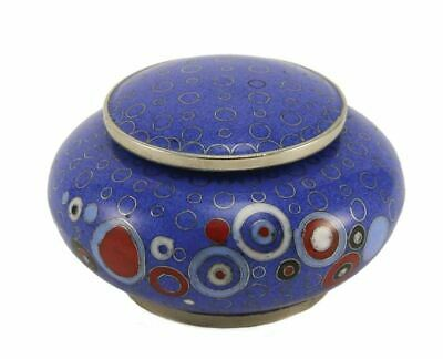 Blue Cloisonne 4 Keepsake Set Funeral Cremation Urns for Ashes,5 Cubic Inches ea