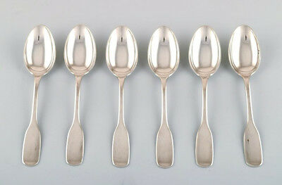 Hans Hansen cutlery Susanne. Set of six dessert spoons in sterling silver