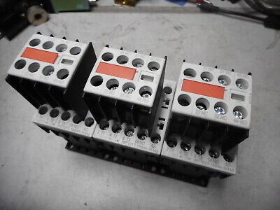 SIEMENS SIRIUS - Qty of 3 CONTACTOR + AUX - 5.5kW 400AC - 24DC Coil - 3RT1017-1B
