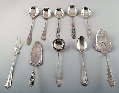 Danish and Norwegian silver, various serving pieces.