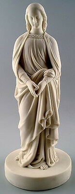 Large Minton parian figure of the woman. Early 20th century.