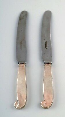 Evald Nielsen, two knives in silver.