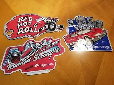 Snap On Tools Sticker Lot of three (3) - Vintage - Mechanic / Toolbox / Collect