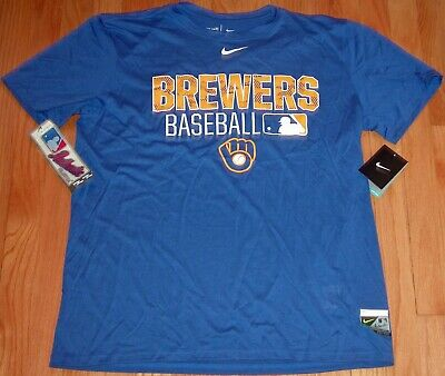 Nike Dri-Fit Mlb Authentic Collection Legend Training Shirt Milwaukee Brewers L