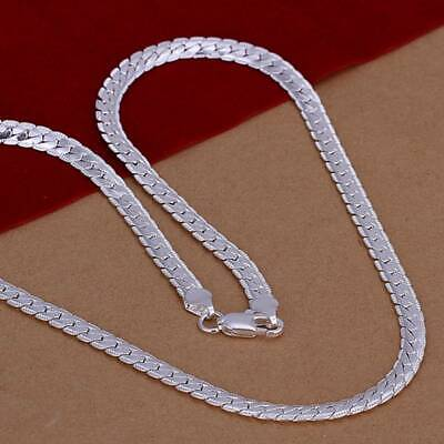 925Sterling Solid Silver Jewelry 5MM 20inch Chain Necklace For Men Women N130