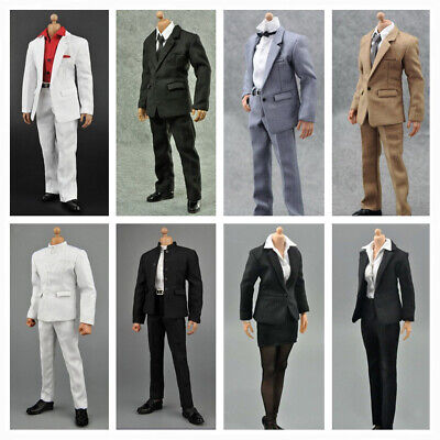 """1/6 Scale Gentleman/ Woman Suit Set Outfits For 12"""" Figure Hot Toys Sideshow NEW"""