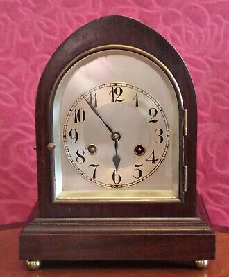 Antique German 'Junghans' 8-day Mahogany Case Striking Bracket Clock