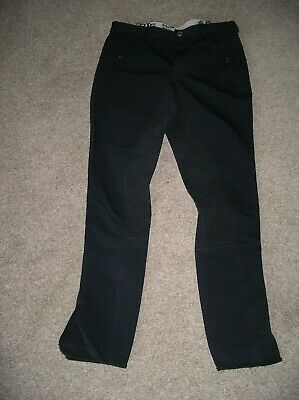 Fab quality Mens Breeches Navy blue 32W 34L faux suede seat by RTS Equi-sports