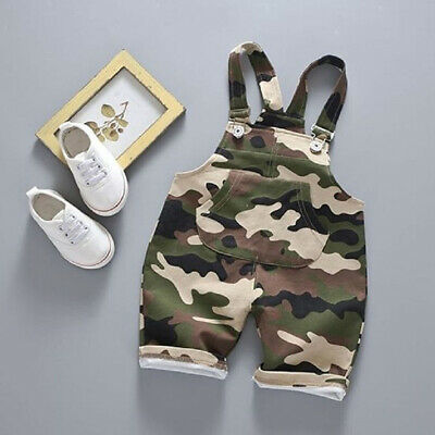 AU Newborn Kid Baby Boy Camouflage Clothes Romper Overalls Summer Cotton Outfit