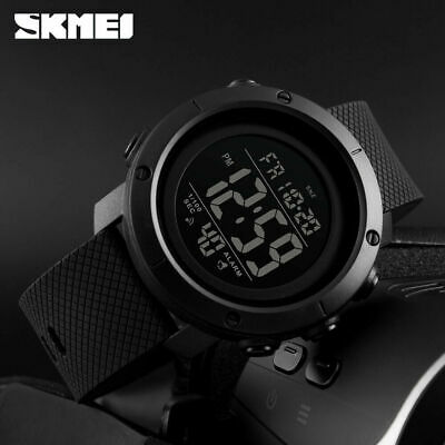 SKMEI Mens Watches Alarm Waterproof Outdoor Sports LED Digital Wristwatch 1426