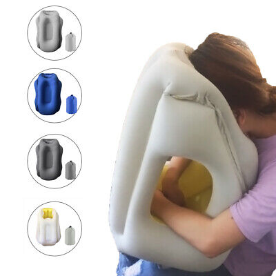 Inflatable Air Pillow Plane Train Travel Cushion Neck Comfortable Support Nap