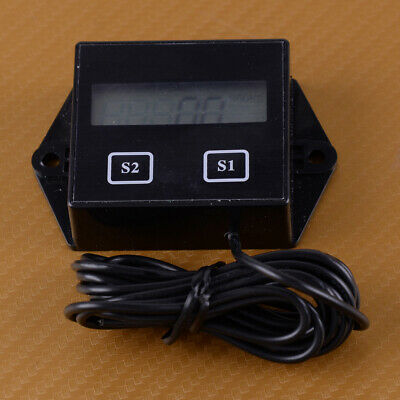 Digital LCD Tach Hour Tachometer RPM Meter for Motorcycle 2/4 Stroke Gas Engine