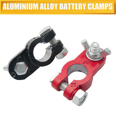 Pair Of Car Battery Terminals Heavy Duty Stud Type 10mm Cable