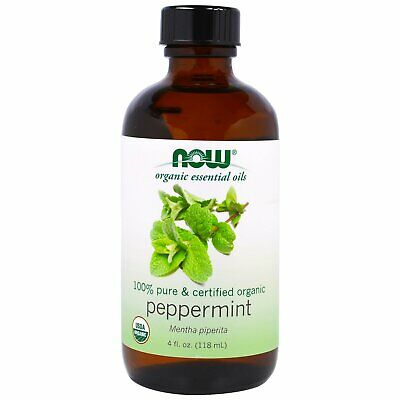 Now Foods Organic Essential Oils Peppermint 4 fl oz 118 ml Organic