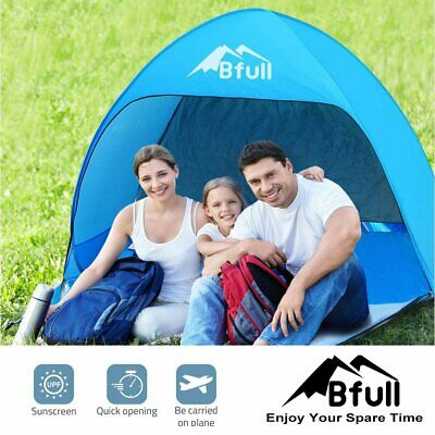 2 Man Beach Tent Automatic Pop Up Water-Resistant Camping Hiking Patio
