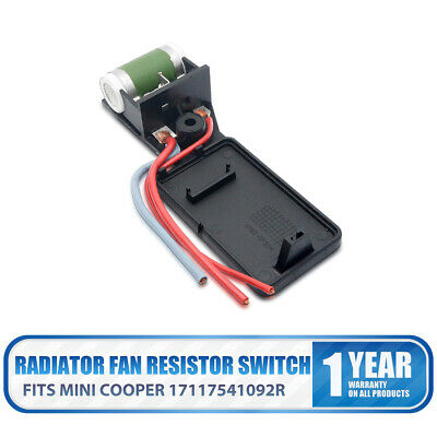 New Radiator Fan Motor Switch Resistor 17117541092R For MINI Cooper R50 R52 R53