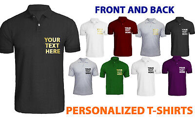 Men's Personalised Polo Shirt Top Short Sleeve Pique Designer Summer Casual Wear